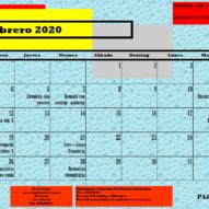 Calendario Departamento de Pastoral