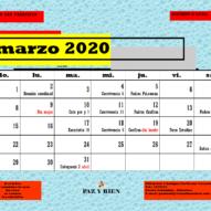 Calendario de Actividades mes a mes Departamento de Pastoral